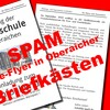 Fake-Flyer in Oberaicher Briefkästen