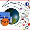 Webpräsenz als Zentralgestirn, um das soziale Netzwerke wie Satelliten kreisen