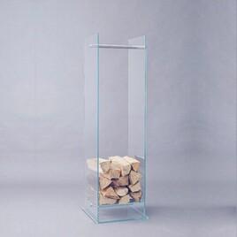 Kaminholz-Glas-Ständer