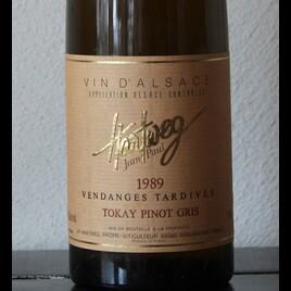 Rarität: 89 Vendanges Tardives Tokay Pinot Gris Hartweg Elsass