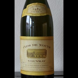 1981 Vouvray Clos de Nouys Moelleux
