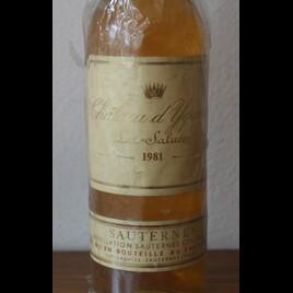 1981 Chateau d'Yquem Grand Cru Classée  Sauternes