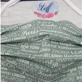 Behelfsmaske Öko-Tex Baumwolle inkl. Filteröffnung (nicht im Lieferumfang)