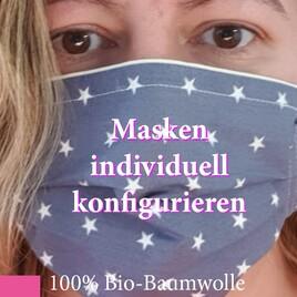Gestalte Deine eigene Behelfsmaske aus 100% Bio-Baumwolle