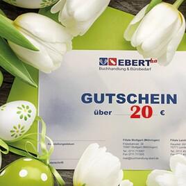 Einkaufsgutschein Buchhandlung Ebert - Wert 20 Euro