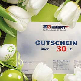 Einkaufsgutschein Buchhandlung Ebert - Wert 30 Euro