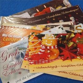 XL-Karten: Weihnachtsgruss aus Leinfelden-Echterdingen
