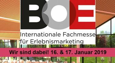 FilderhalLE auf der internationale Fachmesse für Erlebnismarketing BOE in Dortmund