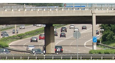 Bauarbeiten am Autobahn-Anschluss S-Möhringen