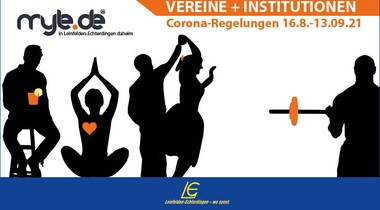 Corona-Regelungen für Vereine und Institutionen in LE (Stand 16.08.21)