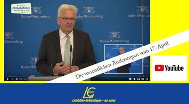 Corona: Bund und Länder beschließen Lockerung - 5. Verordnung gültig ab 20.04.