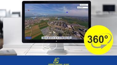 360-Grad-Panoramatour aus der Luft: LE virtuell erleben