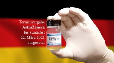 AstraZeneca-Impfstopp - Terminvergabe bis 22.03. ausgesetzt