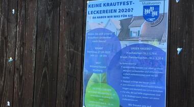 Musikverein Musberg bietet Krautfest-Leckereien am 17.10.
