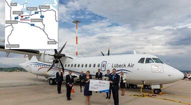 Mit Lübeck Air 6x die Woche von STR an die Ostsee