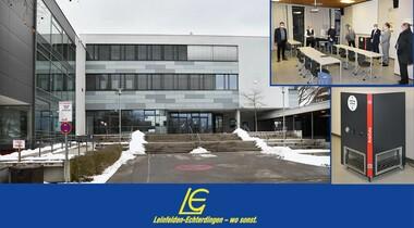 Inbetriebnahme von Luftreinigern an Schulen in LE
