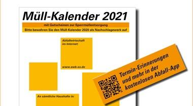 Neue Müllkalender 2021 für Landkreis Esslingen