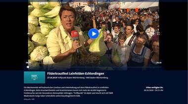 Reportage Filderkrautfest LE im TREFF.Punkt des SWR Baden-Württemberg