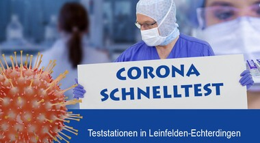 Corona Teststationen . kostenlose Schnelltest in LE . Test