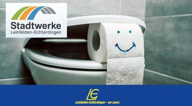 Feuchttücher, Desinfektionstücher und gewisse Hygieneartikel gehören nicht in die Toilette