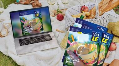 Sommerausgabe viaLE Stadtmagazin: zwischen Bauernhäusern und Badeseen
