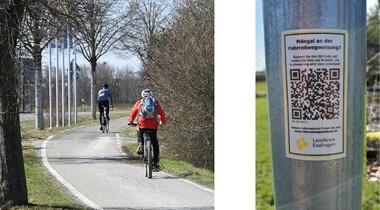 Radwegbeschilderung im Landkreis weiter verbessert - Mängel-Meldung mit dem Smartphone