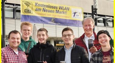 Freies WLAN am Neuer Markt Leinfelden