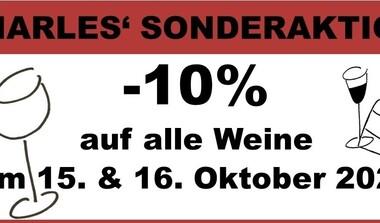 15. und 16.10.21 10 % Rabatt auf Weine