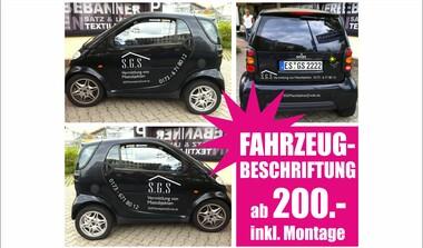 Mobile Werbung - Fahrzeugbeschriftungen