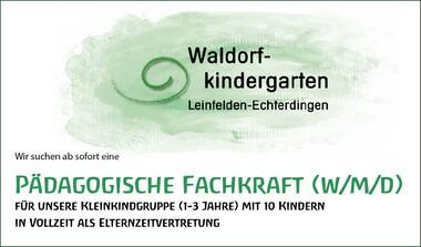 Pädagogische Fachkraft (w/m/d) gesucht für Waldorfkindergarten LE