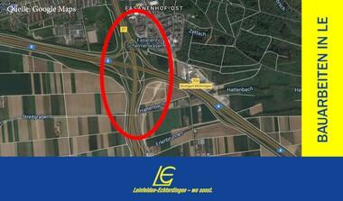 A8-Vollsperrung wegen Brückenverschiebung Stadtbahn U6 (2. - 3.5).)