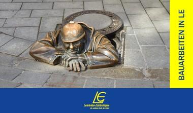 Arbeiten an der Kanalisierung in Echterdingen und Oberaichen