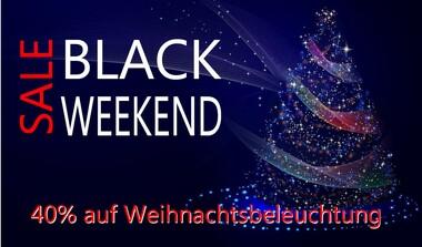 BLACK WEEKEND: Weihnachtsbeleuchtung 40% Rabatt