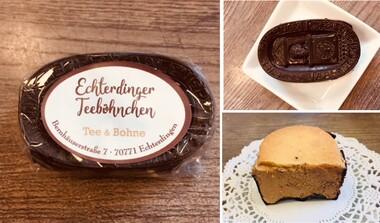 Neu eingetroffen: Echterdinger Teeböhnchen, ein besonderes Schoko-Makronen-Dessert