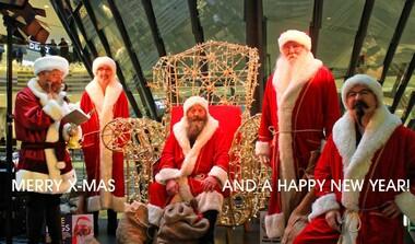 Free Hugs 2017 - Bärtige Weihnachtsmänner aus LE