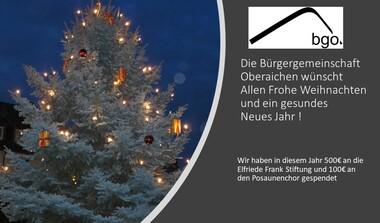 BGO wünscht allen Bürger*innen Frohe Weihnachten