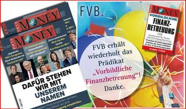 """FVB erneut ausgezeichnet mit Prädikat """"Vorbildliche Finanzbetreuung"""""""