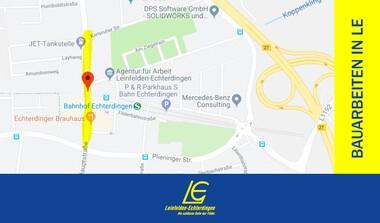 Baustelle: Hauptstrasse Echterdingen halbseitig gesperrt (29.7.-2.8.)