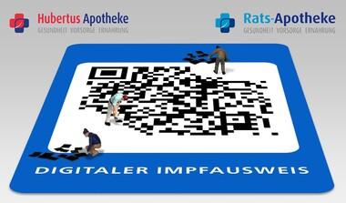 Digitale Impfzertifikate bei Hubertus Apotheke und Rats-Apotheke