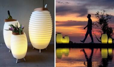 Kooduu Synergy Lautsprecher mit Akku, LED-Licht und als Weinkühler nutzbar