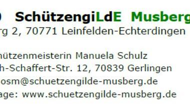 51. Ordentliche Hauptversammlung der Schützengilde Musberg