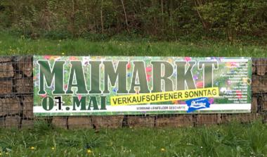 Maimarkt mit verkaufsoffenem Sonntag