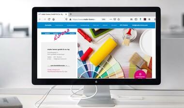 Maler Lorenz informiert auf neuer Webpage