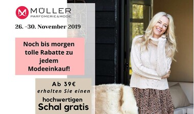Müller Parfümerie + Mode: Tolle Rabatte zum 1. Advent
