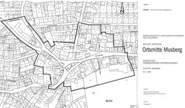Ortskernsanierung Musberg: Stadt lädt zum Bürgerworkshop