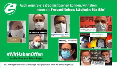 #WirHabenOffen - Fachhändler in Echterdingen begrüßen mit einem Lächeln