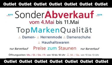 Sonderabverkauf: Top Marken beim Outlet in Leinfelden