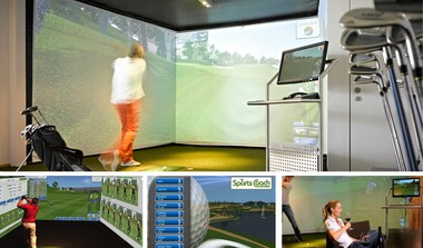 Golf in the City - Indoor-Golf-Anlage mit 12:3 Surround Simulator