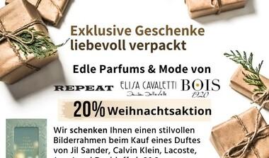 Exklusive Geschenke liebvoll verpackt: Mode + Parfums