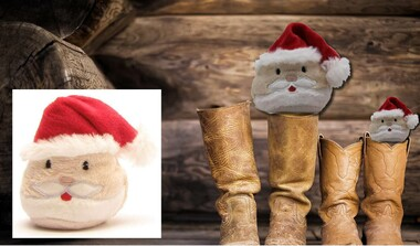 Weihnachtsmann-Schmoozies . Displayreiniger . Mikrofasertuch